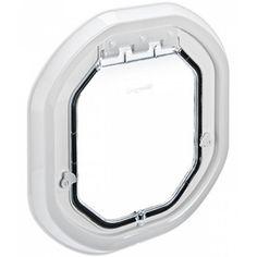 Pet-Tel Glass Fitting Pet Door - White PT-G-DDW