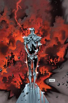 Silver Surfer byOlivier Coipel. Just an awesome panel.
