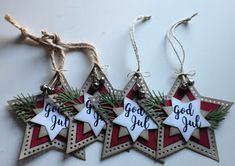 25 Days Of Christmas, Christmas Gift Tags, Christmas Ornaments, Handmade Gift Tags, December 25, Paper Tags, Card Tags, Homemade Cards, Cardmaking