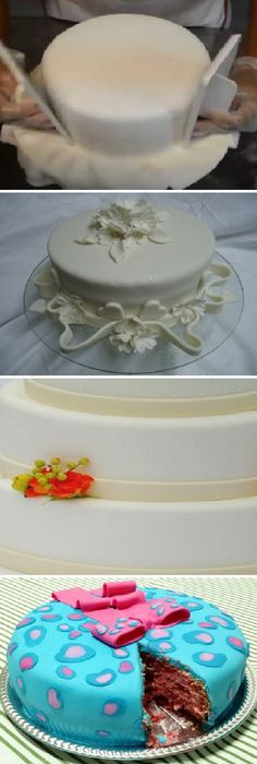Receta de fondant paso a paso y sus aplicaciones.  #fondant #fondantcake #cakes #bodas #tips #comohacer #receta #recipe #casero #torta #tartas #pastel #nestlecocina #bizcocho #bizcochuelo #tasty #cocina #chocolate #pan #panes   Para elaborar el fondant se necesita una espátula bien ancha que se consigue en l... Creative Cake Decorating, Cake Decorating Classes, Creative Cakes, Brownie Cookies, Cake Cookies, Cupcakes, Frosting, Dinner Recipes, Desserts