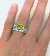 Is she worthy of something more original than the traditional diamond solitaire?  This month's Stone of the Month might be just what you had in mind. #peridot