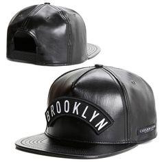 a396e686d3e 2015 new fashion black leather snapback caps baseball hats for men women  sport