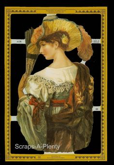 Mamelok English Scrap Die Cut- Classical Woman  (Archives Collection)  A138