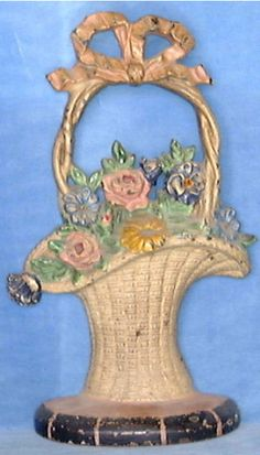 Antique French flower basket doorstop. Would love to find one similar to this.