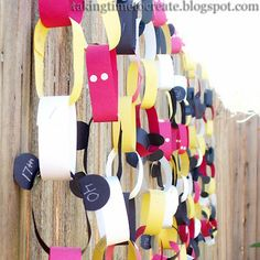 Taking Time To Create: Disneyland Countdown #Disney #craft walt disney, camp, disney crafts, disney trips, disneyland countdown, disney cruise line, disney countdown, craft ideas, paper chains