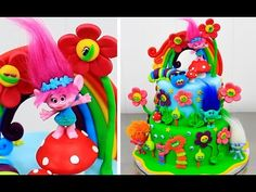 TROLLS CAKE How to make by CakesStepbyStep - YouTube