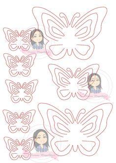 Atendendo a todos os pedidos, temos para a nossa aula de hoje   as borboletas que fiz para o meu novo atelier, espero que gostem, fi...