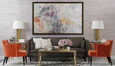 high fashion home gray orange living room idea 22