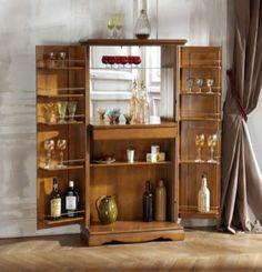 Modern interior design for amazing apartment Drinks Cabinet, Liquor Cabinet, Salon Roche Bobois, Table Ronde Ikea, Modern Interior Design, Space Saving, New Homes, Shelves, Occasion