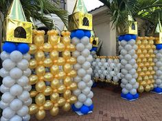 Castle balloon sculpture for kids party