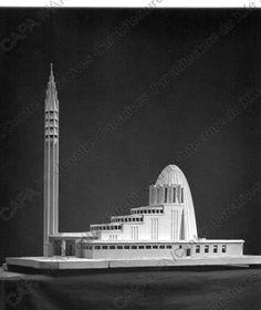 Droz, Jacques (1882-1955) 1933. Eglise du Christ-Roi, Huningue (Haut-Rhin) : vue de la maquette (version non réalisée