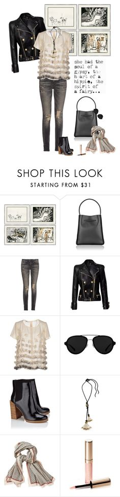 """1278"" by m-lane ❤ liked on Polyvore featuring Soicher Marin, 3.1 Phillip Lim, R13, Balmain, X's Milano, Lanvin, Aigle and By Terry"