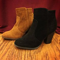 Now in: Suede Western Booties in black and brown #bluesandshoes #carlsbad #shoes #boots #booties #trends #fall #2014 #fashion #style #boho #bohemian