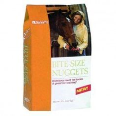 Manna Pro Bite-Size Nuggets 1lb Carrot and Spice by Manna Pro. $3.00. Size: 1 Pound. Your horse is always ready to work and eager to please, a steadfast and faithful companion who gives so much, yet asks for little in return. As a rider, you understand that small acts of kindness and daily interaction tell your horse more than words ever can. Manna Pro understands this too and has developed a line of wholesome treats that will help you show how much you care. Tas...
