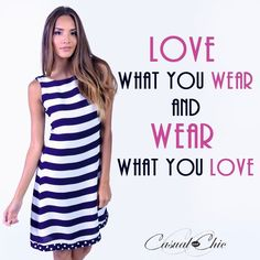 Have a great day ! stripe dress #fashion #casualandchic #onlineboutique #quoteoftheday