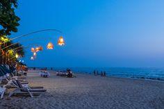 Klong Nin beach at dusk.
