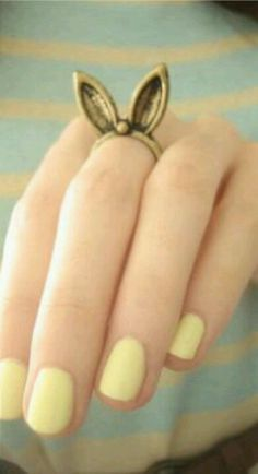 Spring is coming . Pastel Nail Polish, Girly, Kawaii, Cute Rings, Spring Has Sprung, Cute Bunny, Cute Jewelry, Retro, Cute Fashion