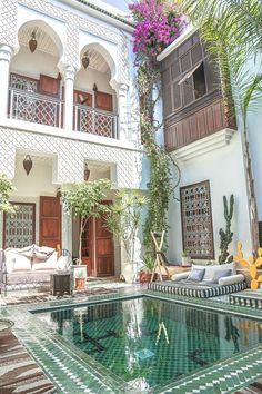 Authentic cuisine, a charming courtyard with swimming pool, and stylish, Moroccan inspired interiors make Riad Yasmine one of Marrakech's prettiest accommodations.