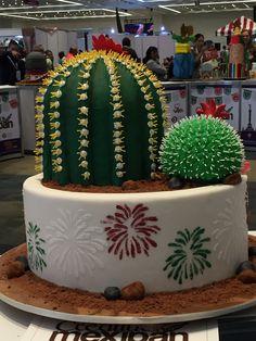 pastel fiestas patrias  CACTUS  mexipan 2016