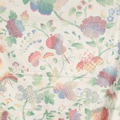 #VintageFabricAsianFloral Japanese P Kaufman Print 56 x 112 Cotton Pretty #PKaufman
