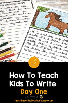 Get your kids writing with fun, engaging activities. These ideas are perfect if you are a parent trying to get your child to write at home or a teacher working in the classroom or through distance learning, Teaching Kids To Write, How To Teach Kids, Teaching Writing, Writing Activities, Writing Lesson Plans, Writing Lessons, Kids Writing, Report Writing, Spring Activities
