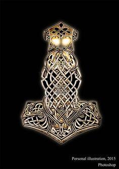 Marta Hdez H. Norse Runes, Viking Symbols, Viking Art, Viking Runes, Norse Tattoo, Viking Tattoos, Celtic Patterns, Celtic Designs, Bux Bunny