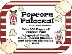 This 100 page cross curriculum bundle is exploding with fun ways to learn about popcorn! Includes: History of Popcorn Fun Facts abo. School Themes, Classroom Themes, Movie Classroom, School Ideas, Sixth Grade Science, Common Core Curriculum, Thematic Units, Scientific Method, Vocabulary Words