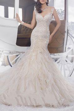 Sophia Tolli Ruffled Tulle Bridal Dress