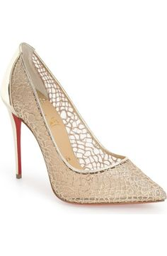 Christian Louboutin 'Follies' Lace Pointy Toe Pump available at #Nordstrom