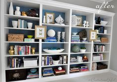 Built-ins from Billy Bookcases - must try!