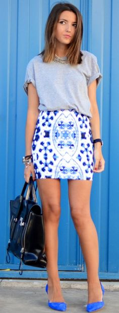 I.Love.That. Skirt. and the outfit! Estampa azulejo português