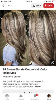 Blonde Hair Cuts Medium, Brown Blonde Hair, Brown Hair With Highlights And Lowlights, Hair Highlights, Chunky Highlights, Spring Hairstyles, Cool Hairstyles, Layered Hairstyles, Hairdos