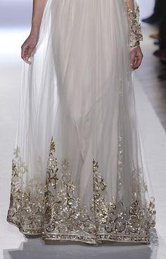 Gorgeous beaded hem detail on gown  Zuhair Murad HC S/S 2013