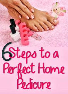 I love getting a pedi, but it can be expensive!  Here are 6 Steps to a Perfect Home Pedicure