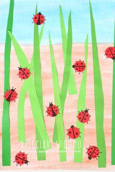 biedronki - wiosenna praca plastyczna dla dzieci