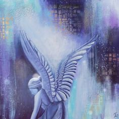 Photo Motion Video of Acrylic Painting Blue Angel, Modern Angel Art by Terra Somnia Acrylic Paintings, Original Paintings, Angel Paintings, Angel Art, Abstract Expressionism, Angels, Spirituality, Hand Painted, Wall Art