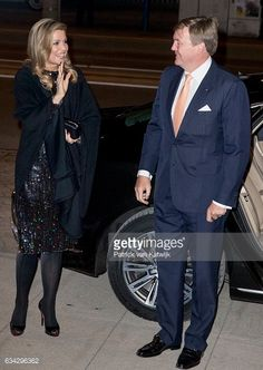 King Willem-Alexander and Queen Maxima attend an trade dinner in the Kongresshalle am Zoo during their 4 day visit to Germany on Feb. 8, 2017.