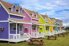 Gingerbread cottages, Hatteras Point, Outer Banks, NC