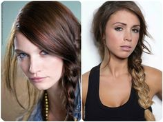 dark brown ombre side braided fishtail with ombre color hair extensions