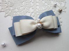 大人可愛い☆リボンバレッタ Ribbon Hair Bows, Lace Bows, Diy Ribbon, Fabric Ribbon, Handmade Hair Bows, Diy Hair Bows, Diy Bow, Ribbon Embroidery Tutorial, Shoe Clips