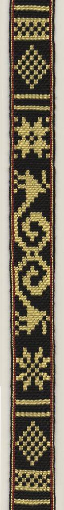 Traditional pattern in Icelandic double cloth tablet weaving. Marijke van Epen