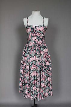 Dress 80s 50s Vintage laura ashley