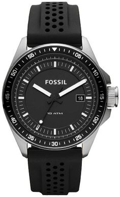 Fossil Decker Silicone Watch Black -- Check out the image by visiting the link. (This is an affiliate link) Fossil Decker Silicone Watch Black -- Check out the image by visiting the link. (This is an affiliate link) Best Kids Watches, Fossil Watches For Men, Cool Watches, Wrist Watches, Men's Watches, Black Watches, Brand Name Watches, Sport Watches, Stylish Watches