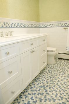 Bathrooms - JENNIFER PACCA INTERIORS  #interiordesign #design #decor  #mosaictile   #inspiration #interior #bathroom #kidsbathroom #funtile #tiles #inspo #beforeandafter #newbathroom #payyellow #accenttile #bathroomremodel #bathroomdesign #realestate #remodeling  #dreamhome