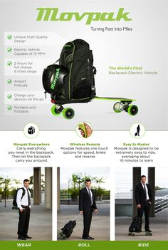 Movpak - The World's First Backpack Electric Vehicle by Movpak — Kickstarter