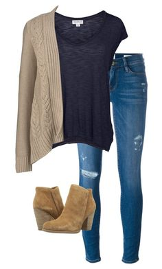 """3"" by wachabuy on Polyvore featuring moda, Frame Denim, Velvet by Graham & Spencer, Lands' End y GUESS"