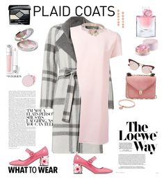 """""""Pattern Mix: Plaid Coats in Spring Warderobe"""" by ellie366 ❤ liked on Polyvore featuring Loewe, Exclusive for Intermix, P.A.R.O.S.H., Guerlain, Rebecca de Ravenel, Valentino, RED Valentino, Michael Kors, Christian Dior and Prada"""