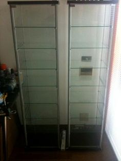 Great mod for IKEA glass display case. Perfect for Dave's 40K pieces.