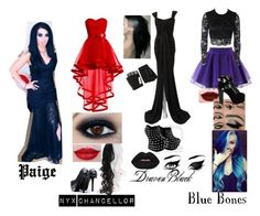 """""""WWE Superstars and Divas For Hope Red Carpet: Team Haunt"""" by iamsynysterinmorewaysthan1 ❤ liked on Polyvore featuring Chicwish, Jeffree Star, Bec & Bridge, Jeffrey Campbell, Majesty Black, Elizabeth Mason Couture and Lime Crime"""