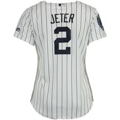 e0e13e39e2ed4 Majestic Women s Derek Jeter New York Yankees Player Cool Base Jersey (160  LYD) ❤ liked on Polyvore featuring white